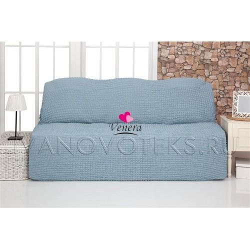 215 Чехол на диван без подлокотников бирюзовый