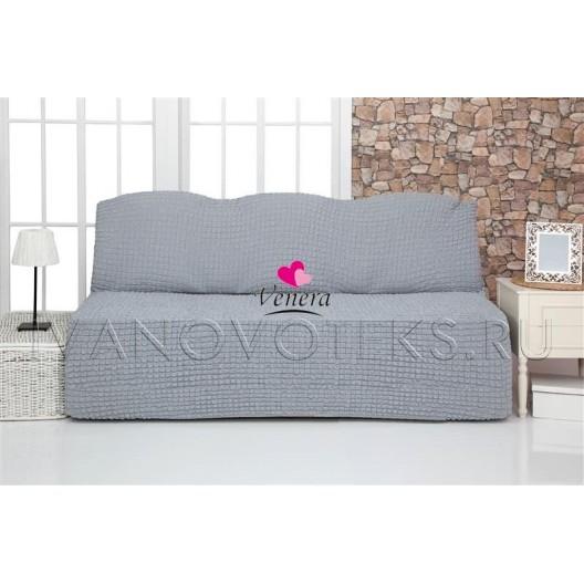 216 Чехол на диван без подлокотников серый