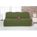 222 Чехол на диван без подлокотников зеленый