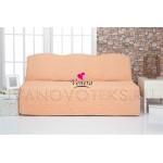 227 Чехол на диван без подлокотников персик