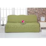 228 Чехол на диван без подлокотников фисташковый