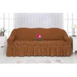 210 Чехол на диван коричневый
