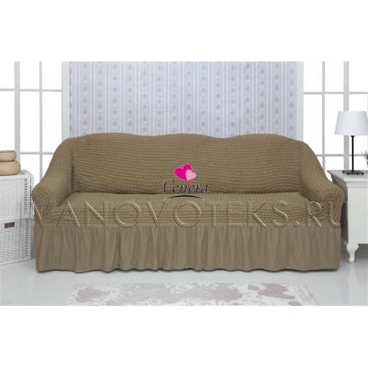 220 Чехол на диван темно-оливковый