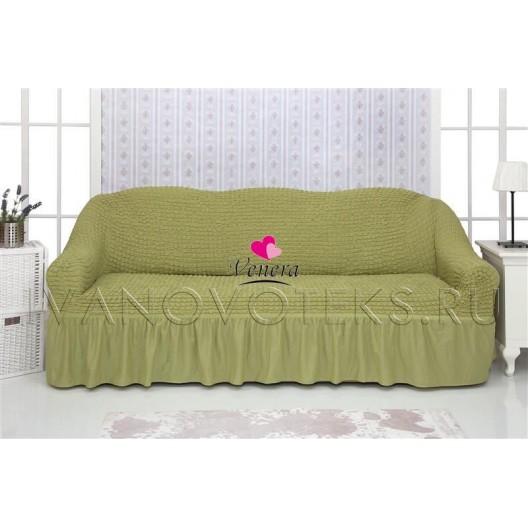 228 Чехол на диван фисташковый