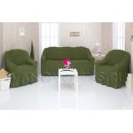 222 Чехлы на диван и два кресла зеленый