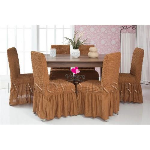 210 Чехол на стул коричневый