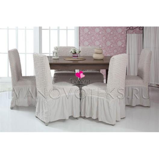 213 Чехол на стул пыльно-белый