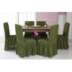 222 Чехол на стул зеленый