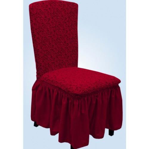 Чехол на стул жаккард бордовый