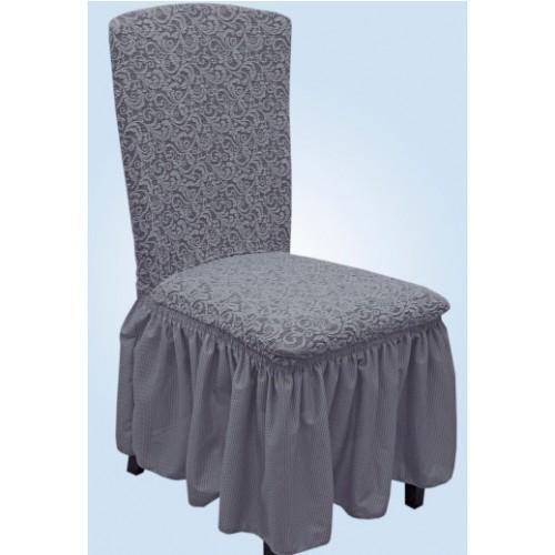 Чехол на стул жаккард серый