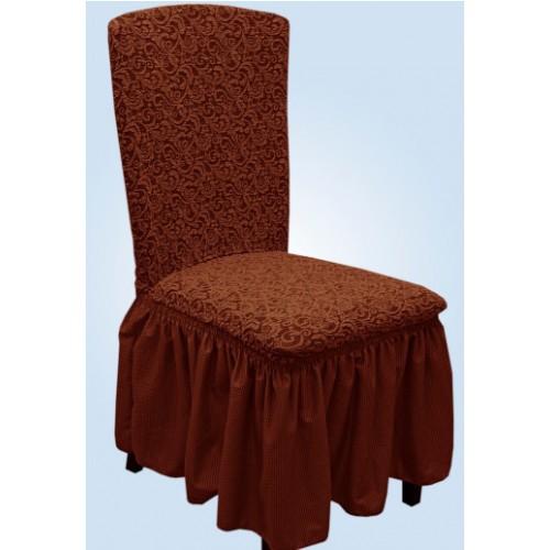 Чехол на стул жаккард шоколад