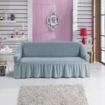 Чехол на диван серо-голубой