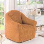 Чехол на кресло без оборки оранжевый