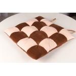 Сидушка шахматы коричневый