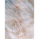 Пушистый плед персик