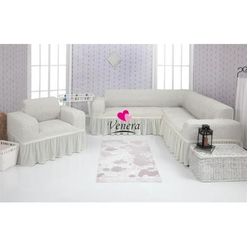 Чехол на угловой диван и кресло 204
