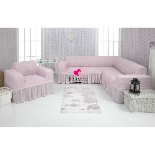 Чехол на угловой диван и кресло 207