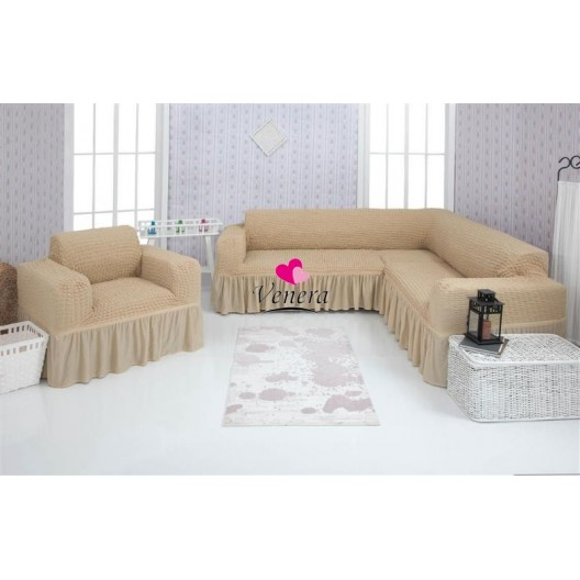 Чехол на угловой диван и кресло 212