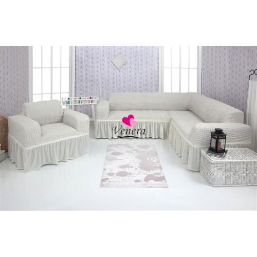 Чехол на угловой диван и кресло 213