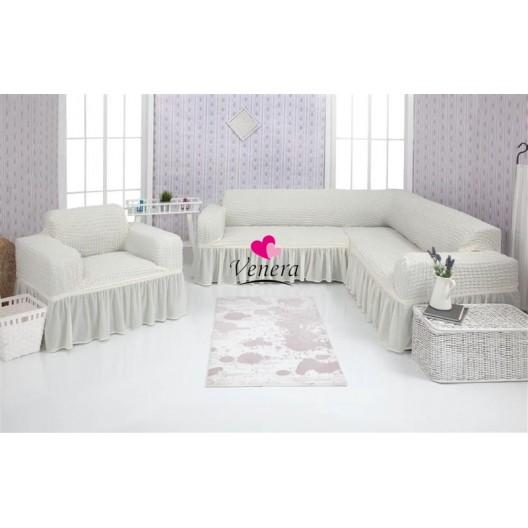 Чехол на угловой диван и кресло 214