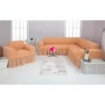 Чехол на угловой диван и кресло 227