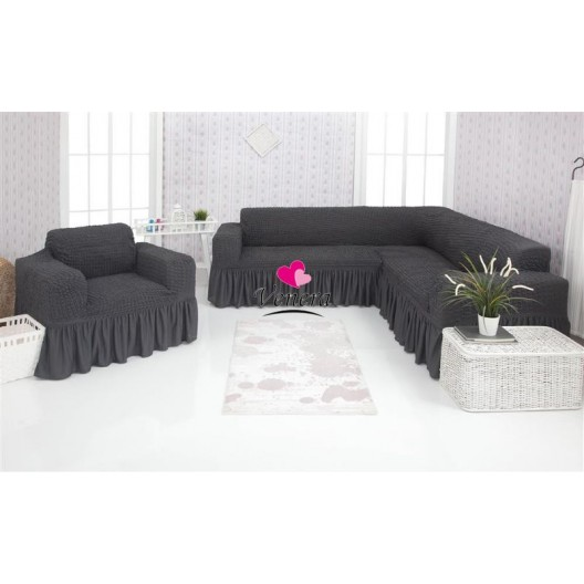 Чехол на угловой диван и кресло 229