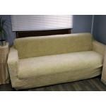 Чехол на диван плюшевый светло-бежевый