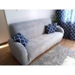 Чехол на диван плюшевый серый