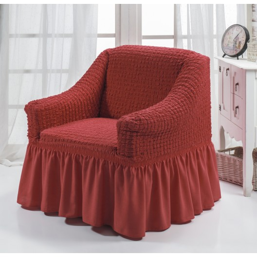 Чехол на кресло кирпичный