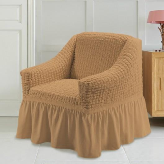Чехол на кресло медовый