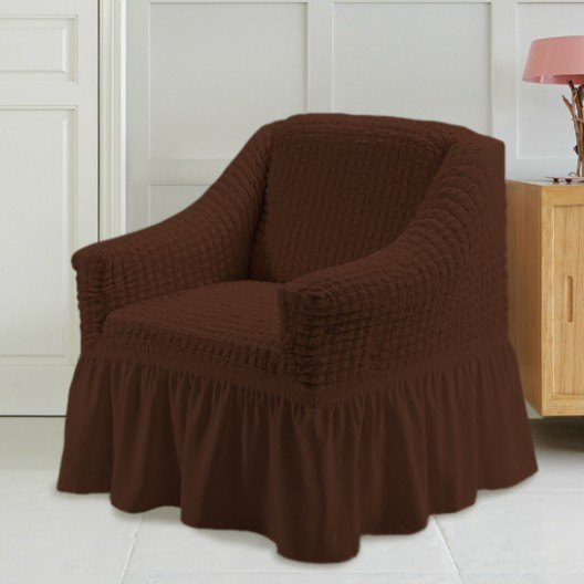 Чехол на кресло шоколад