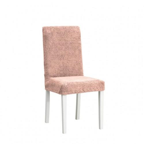 Чехол на стул плюшевый бежевый