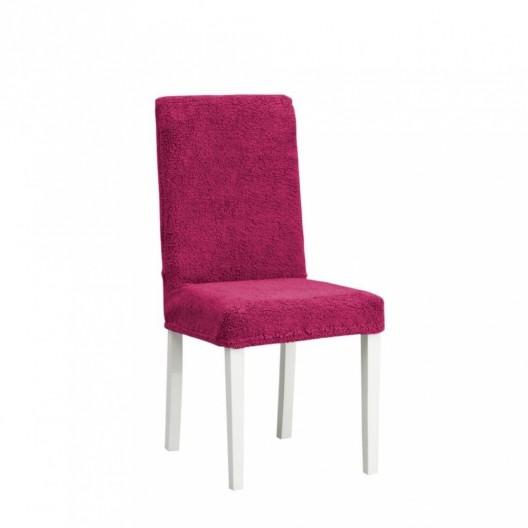 Чехол на стул плюшевый бордо