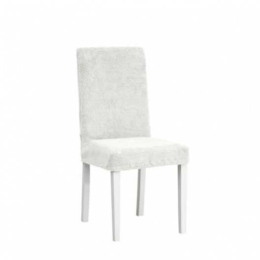 Чехол на стул плюшевый молочный