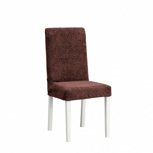 Чехол на стул плюшевый темно-коричневый