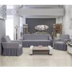 Чехлы на диван и два кресла Altinkoza соты серый
