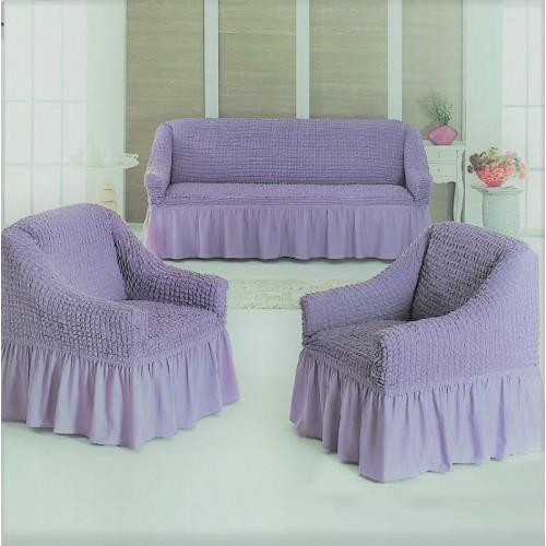 Чехлы на диван и два кресла лиловый