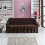 Чехол на диван шоколад