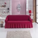 Чехол на диван малиновый