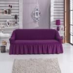Чехол на диван фиолетовый