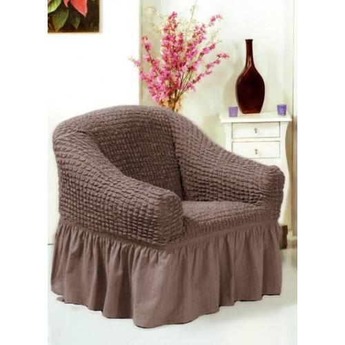 Чехол на кресло какао