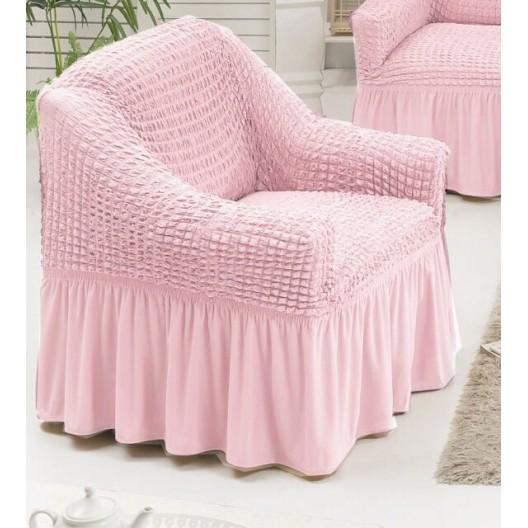 Чехол на кресло розовый