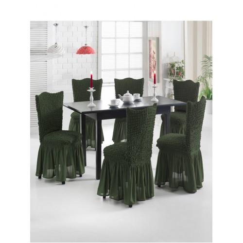 Чехол на стул темно-зеленый