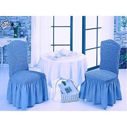 Чехол на стул синий