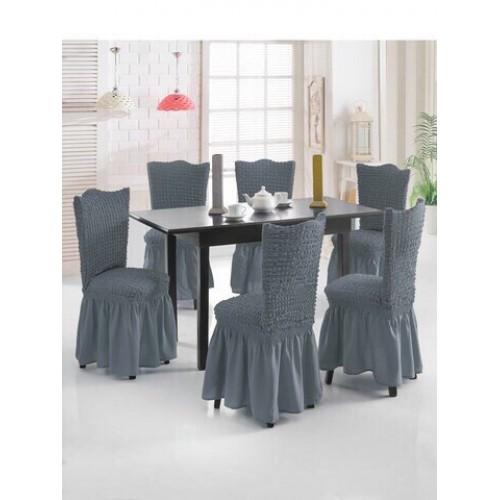 Чехол на стул серый