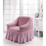 Чехол на кресло пыльно-розовый
