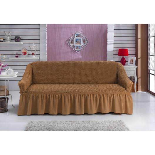 Чехол на кресло светло-коричневый