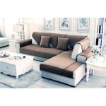 Накидка на диван и кресла (дивандек) шиншилла какао