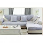 Накидка на диван и кресла (дивандек) шиншилла серый