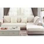 Накидка на диван и кресла (дивандек) шиншилла сливочный